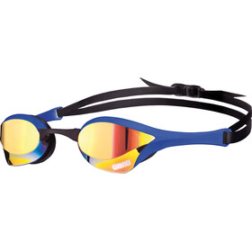arena Cobra Ultra Mirror Svømmebriller, yellow revo-blue